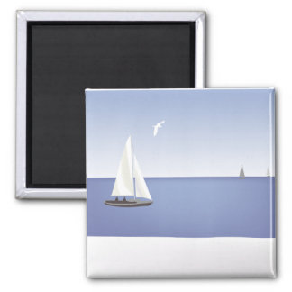 Sailboats on the Horizon Magnet