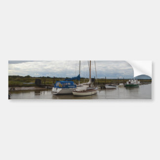 Sailboats On The River Blythe Bumper Sticker