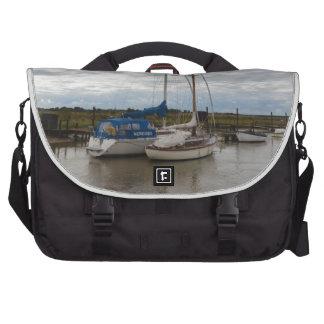 Sailboats On The River Blythe Laptop Messenger Bag