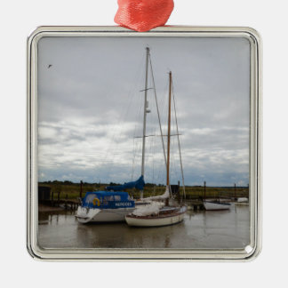 Sailboats On The River Blythe Metal Ornament