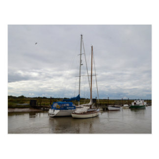 Sailboats On The River Blythe Postcard