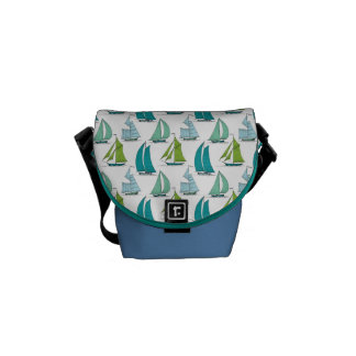 Sailboats On The Water Pattern Messenger Bag