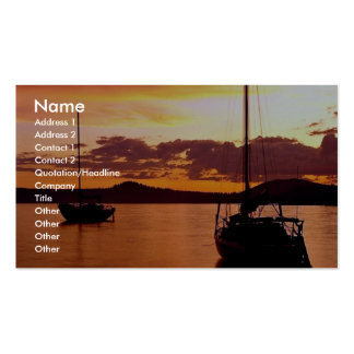 Sailboats on Waldo Lake, Willamette National Fores Double-Sided Standard Business Cards (Pack Of 100)