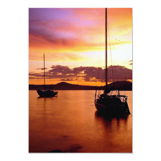 Sailboats on Waldo Lake, Willamette National Fores 5x7 Paper Invitation Card