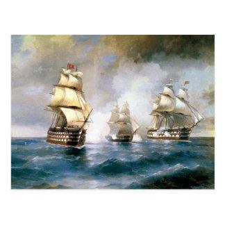 sailboats  painting 43 postcard
