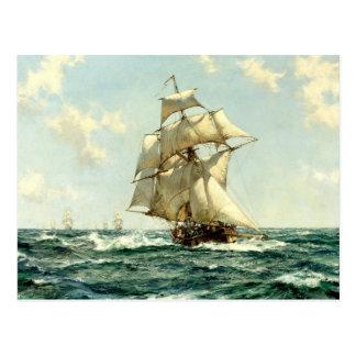 sailboats  painting 44 postcard
