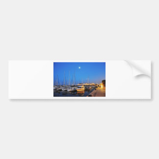 Sailboats parked by Chicago Navy Pier Bumper Sticker