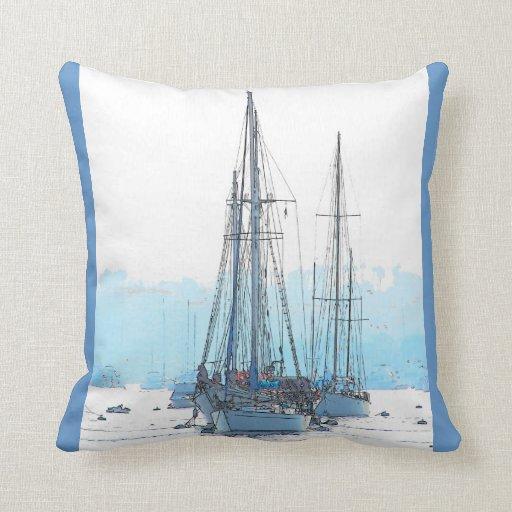 Sailboats Pillow