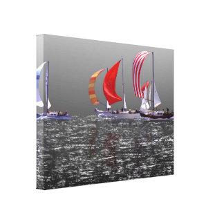 Sailboats - Racing - Classic Pearson Vanguards Canvas Print