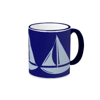 Sailboats, Sailboats, Sailboats! Ringer Coffee Mug