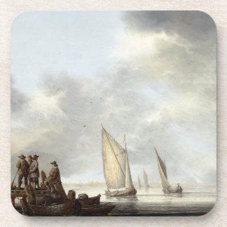 Sailboats Sailing Harbor Dock Holland Coaster