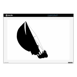Sailboats - Silhouettes - Challenger Laptop Decals