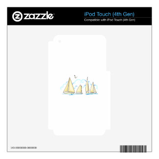 SAILBOATS SKIN FOR iPod TOUCH 4G