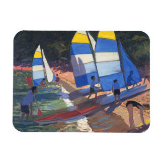 Sailboats South of France 1995 Magnet