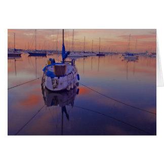 Sailboats Sunrises Greeting Card