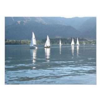 Sailboats, Wanaka, Southern Alps, New Zealand Photo Print