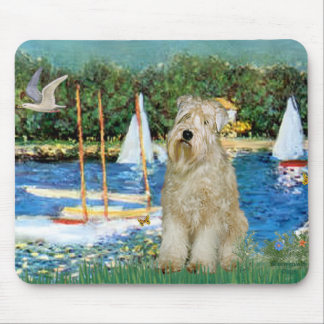 Sailboats -Wheaten Terrier 1 Mouse Pad