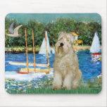 Sailboats -Wheaten Terrier 1 Mousepads