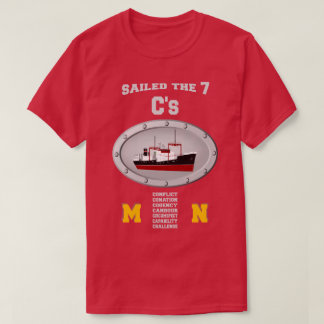 SAILED THE SEVEN SEAS  MERCHANT NAVY T-Shirt