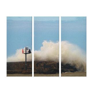 """Sailers Warning """"Big Waves"""" Canvas Print"""