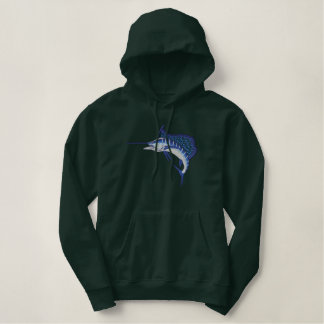 Sailfish Applique Embroidered Hoodie