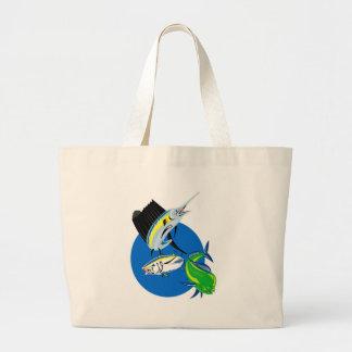 Sailfish dorado dolphin fish and bluefin tuna bags