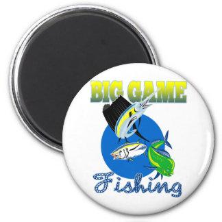 Sailfish dorado dolphin fish and bluefin tuna refrigerator magnet