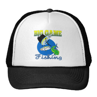 Sailfish dorado dolphin fish and bluefin tuna trucker hat