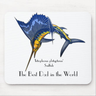 SAILFISH FATHERS DAY MOUSE MAT MOUSE PAD