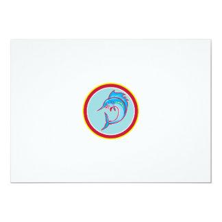 Sailfish Fish Jumping Circle Cartoon 13 Cm X 18 Cm Invitation Card