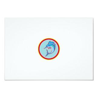 Sailfish Fish Jumping Circle Cartoon 9 Cm X 13 Cm Invitation Card
