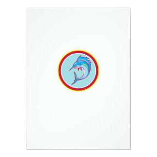 Sailfish Fish Jumping Circle Cartoon 14 Cm X 19 Cm Invitation Card