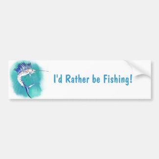 Sailfish in Watercolor Bumper Sticker