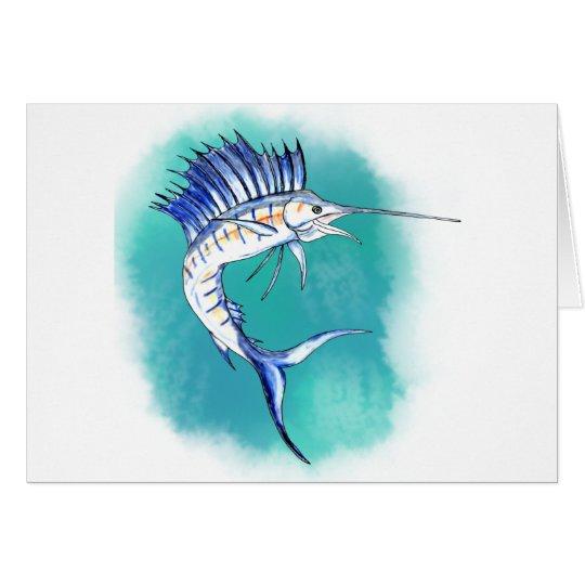 Sailfish in Watercolor Card