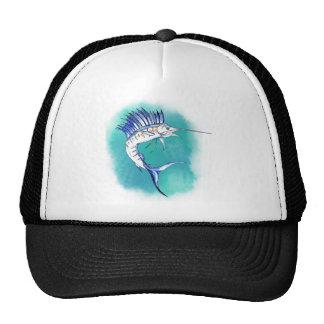 Sailfish in Watercolor Trucker Hats