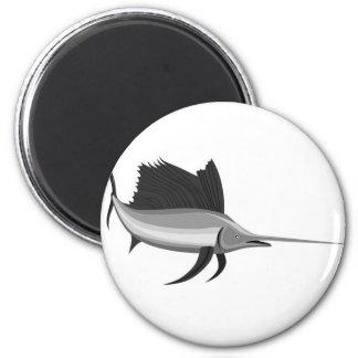 sailfish isolated on white background fridge magnet