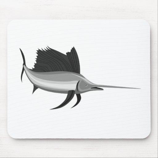 sailfish isolated on white background mousepads