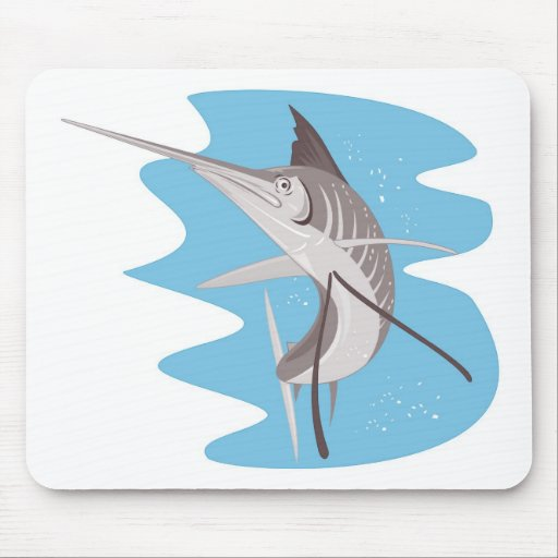 sailfish jumping up mouse pads