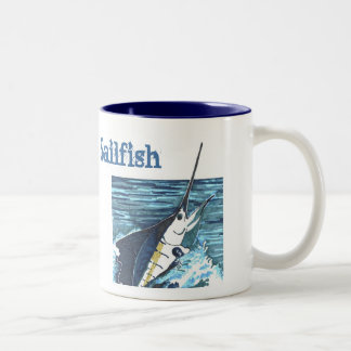 Sailfish Jumps Sportfish Two-Tone Coffee Mug