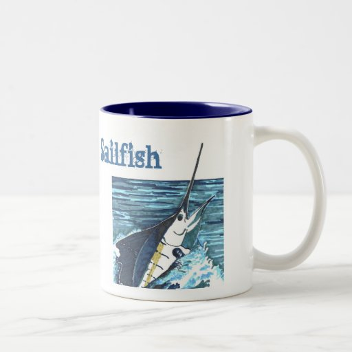 Sailfish Jumps Sportfish Two-Tone Coffee Mug