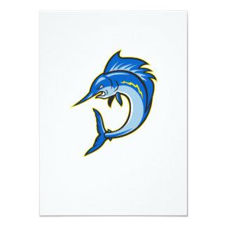 Sailfish Swordfish Jumping Cartoon 4.5x6.25 Paper Invitation Card