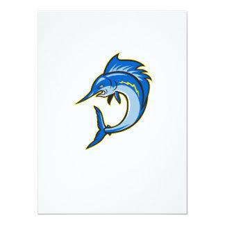 Sailfish Swordfish Jumping Cartoon 5.5x7.5 Paper Invitation Card