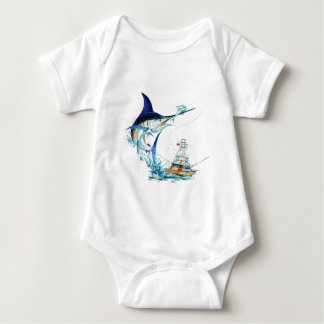 Sailfish Takes the Bait Baby Bodysuit