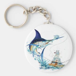 Sailfish Takes the Bait Keychain