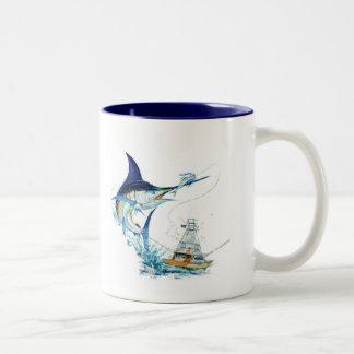 Sailfish Takes the Bait Two-Tone Coffee Mug