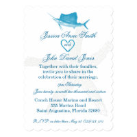 Sailfish Wedding Celebration Invitation