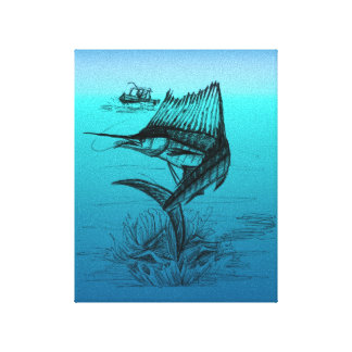 Sailfishing Gallery Wrap Canvas