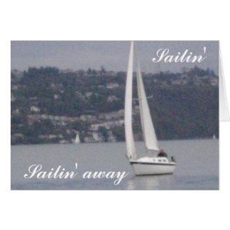 Sailin', Sailin ausente Tarjeta De Felicitación