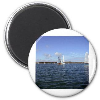 Sailing 2 Inch Round Magnet