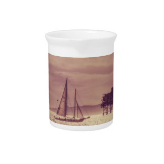 Sailing Across The Golden Sea Drink Pitcher